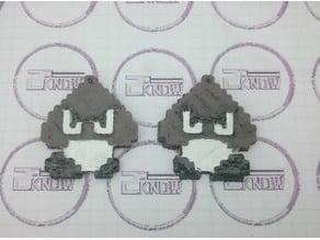 8bit Little Goomba Keychain - Mushroom Kingdom Goon - Super Mario World