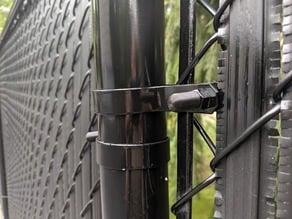 Chain link fence bolt threaded plug