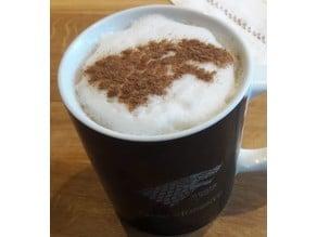 House Stark Coffee Stencil