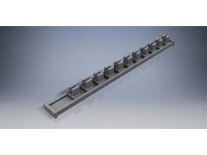 "Sliding Socket Rail - 3/8"" drive"
