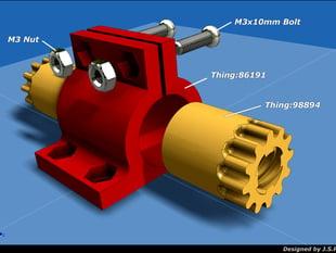 Backlash adjusting nut for linear stepping motor.