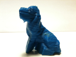 3D Scanned Toy Dog using the Makerbot 3D Scanner!