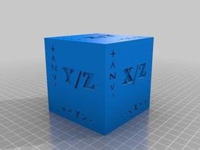 Calibration Cube 80mm with description