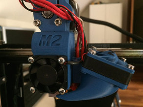makergear m2 e3d filament drive and ez removable fan duct