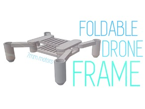 Foldable frame - 7mm motors (Don't need screws)