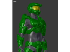 Chopped up for 8x10x8 Printer-Halo 3-Mark 6-Master Chief Armor Set(No Helmet)