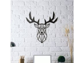 Deer Wall Sculpture 2D II