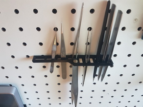 Pegboard Tweezer Holder
