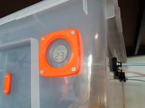 Drybox humidity sensor mount