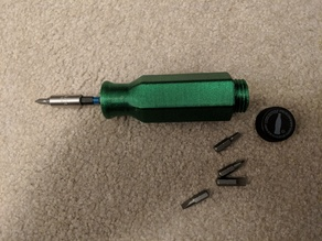 Screwdriver with storage