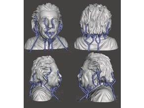 Albert Einstein Bust (added support)