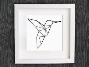 Customizable Origami Hummingbird