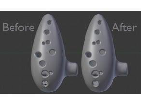 Cleaned Updated 12 Hole Ocarina