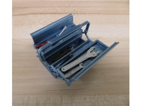 Toolbox and tools 1:18 scale