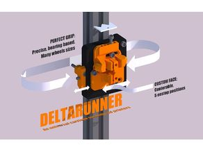 DELTARUNNER, the universal delta 3d printer carriage for kossel, mini, k800 etc.