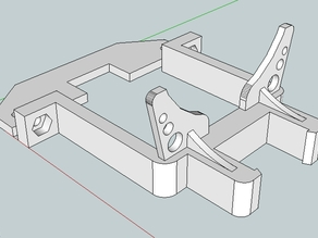 Servo Bracket with 60mm LED light ring mount and remixed parts