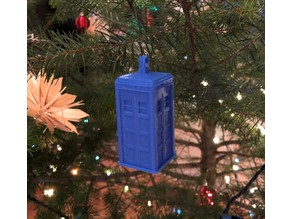 Detailed Tardis Christmas Ornament