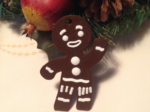 Gingerbread Man from Shrek / keychain or christmas ornament by Dp90pusika -  Thingiverse - Gingerbread Man From Shrek / Keychain Or Christmas Ornament By