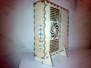 Thin mini ITX plywood case