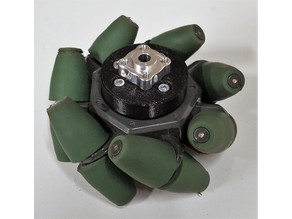 Vex Green Mecanum wheel mounts to Actobotics hubs