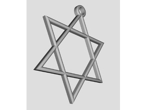 Portachiavi, Ciondolo, Stella Israele - Pendant , keychain Israel Star