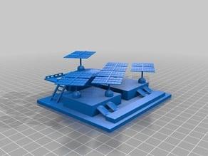 3DBear Mars Solar array - a Mars water station remix