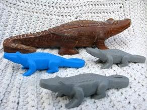 Alligator Wood Carving