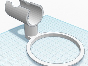 Bowlholder for bathtub faucet, rotatable. V2