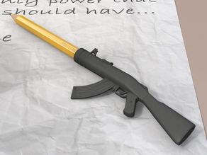 Pencil/Pen Cap Weapon - Je Suis Charlie