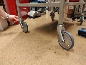 Trolley wheel tire