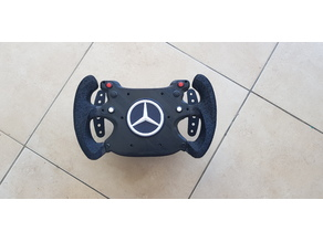 Cap for f1 style steering wheel