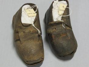 19th Century Leather Children's Shoe: