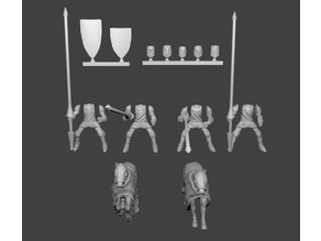Knight Cavalry Miniatures Customizable