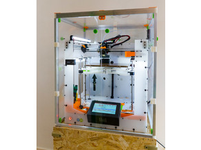 Dismountable 3D printer enclosure