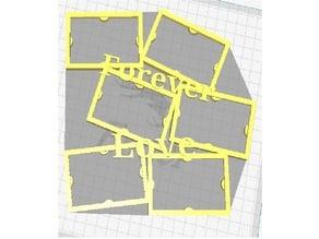 Forever Love Bilderrahmen / Picture Frame / Photo 7x4,5