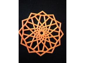 Geometric Snowflake #BlocksCADSnowflake