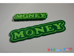 MONEY - Keychain - Badge - Decal - Sticker