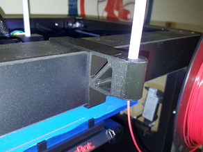 Clip-on filament guide for Makerbot 2