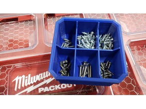 Milwaukee Low Profile Packout 6 Compartment Bin