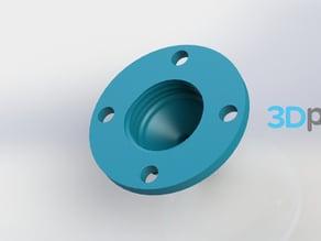 Drip nozzle 3/8 inch, 4 holes - 3Dponics Drip Hydroponics