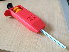 Adjustable Volume Straw Pipette
