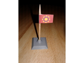 Toothpick flag base