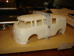 'The Bus' -  A VW Bus Pinewood Derby Car