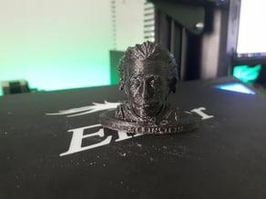 Einstein bust with stand