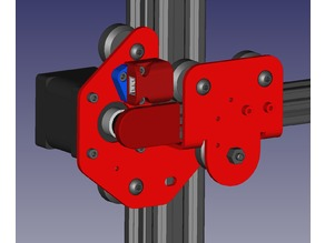 X-axis pulley cover
