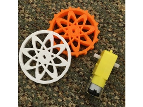 Wheels for Arduino motors 3 inch diameter