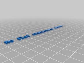 Dual Letter Blocks - Test 2