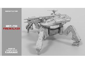 """MBT-700 """"Firewalker"""" Spider Tank Mech"""
