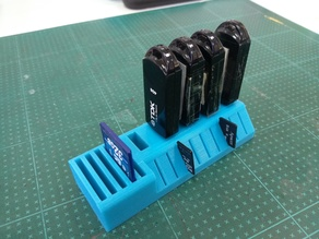 USB SD and MicroSD holder for wide USB sticks(Small)