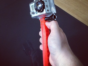 GoPro Handle with and without slip-guard